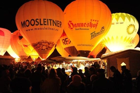 Ballonfahrten, Winterurlaub in Filzmoos