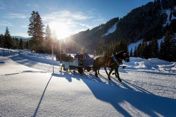 Pferdeschlittenfahrten, Winterurlaub in Filzmoos